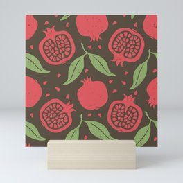 Pomegranate pattern Mini Art Print