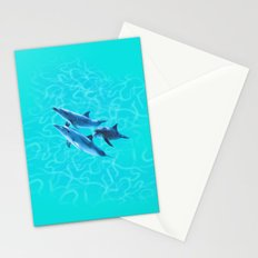 Dolphin friends Stationery Cards