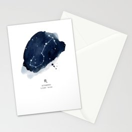 Zodiac Star Constellation - Scorpio Stationery Cards