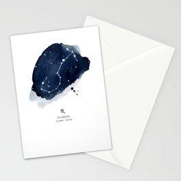 Zodiac Star Constellation - Scorpio Stationery Cards