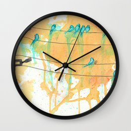 Birds on the Line Wall Clock