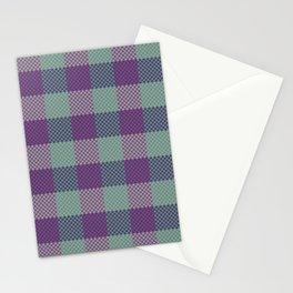 Pixel Plaid - Dark Seas Stationery Cards