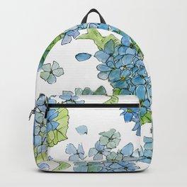 Blue Hydrangea Watercolor Backpack