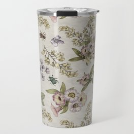 spring flowers with butterfly and beetles II Travel Mug