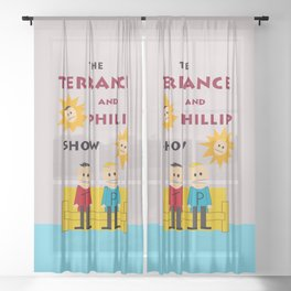The Terrance and Phillip Show Poster Sheer Curtain
