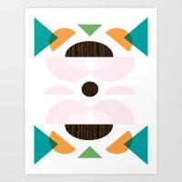 Mid Century Modern Metro Mix Series// Ady // Art Print
