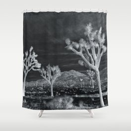 Joshua Tree InfraRed by CREYES Shower Curtain