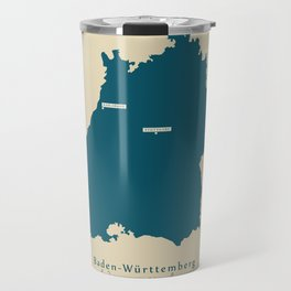 Modern Map - Baden-Wuerttemberg DE new design refreshed Travel Mug