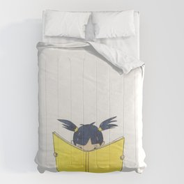 Little Girl Reading Comforters