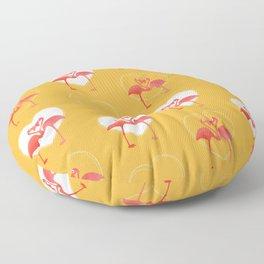 lovebirds - flamingos in love Floor Pillow