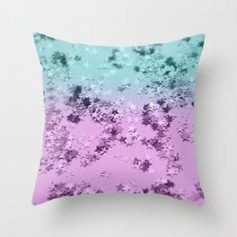 Mermaid Lady Glitter Stars #3 #decor #art #society6 Throw Pillow