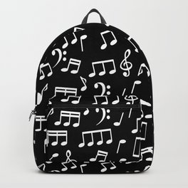 Musical Notes Pattern Backpack