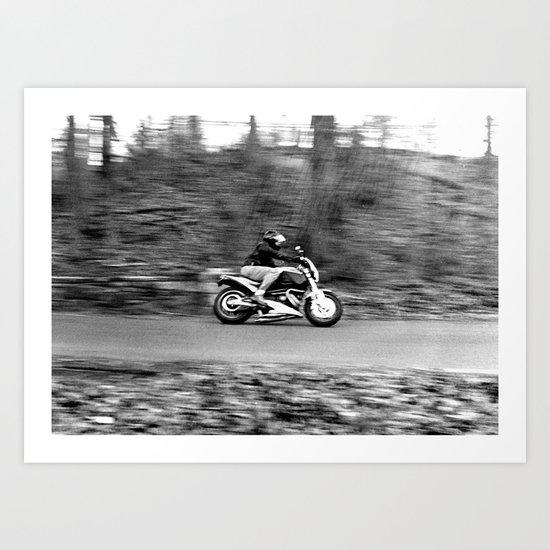 A Dangerous Road Ahead Art Print