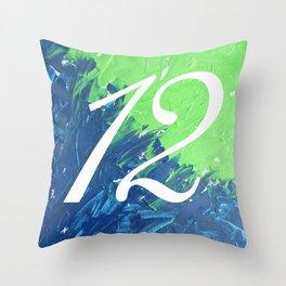 Blue & Green, 12, No. 3 Throw Pillow