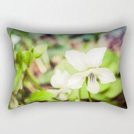 Tranquil China Violet Botanical / Nature / Floral Photograph Rectangular Pillow