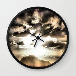 Sun Rays Wall Clock