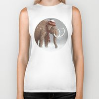 whimsical Biker Tanks featuring The Ice Age Sucked by Terry Fan