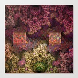 Unending magical spirals and spheres Canvas Print