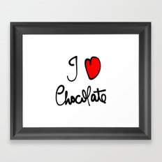 i love chocolate Framed Art Print