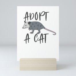 Possum Adopt A Cat Ugly Opossum Lovers Vintage Gift Mini Art Print