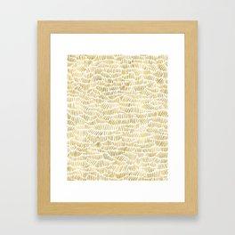 Gold Dashery Framed Art Print