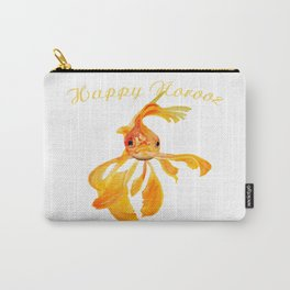 Happy Norooz Persian New Year Goldfish Isolated Carry-All Pouch