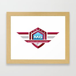 MG Fitness and Coaching Logo Tee Framed Art Print