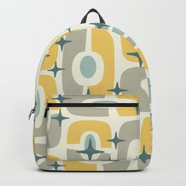 Colorful Mid Century Modern Cosmic Abstract 366 Backpack
