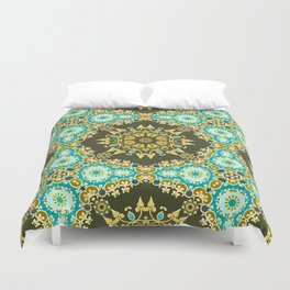 Golden mandala Duvet Cover