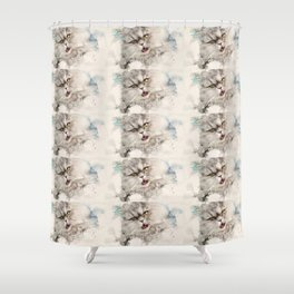 Gismo our persian tomcat Shower Curtain