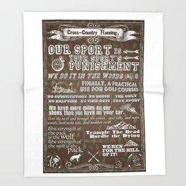 Cross-Country Running 101 Poster Throw Blanket