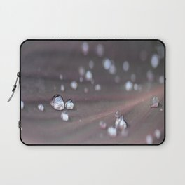Drops on a Leaf Laptop Sleeve