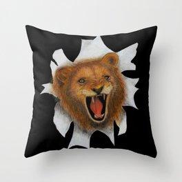 Peek-A-ROARR Throw Pillow