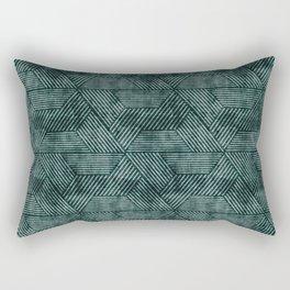 cadence triangles - dark green Rectangular Pillow
