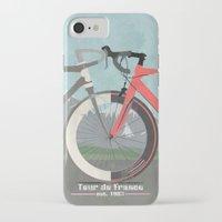 tour de france iPhone & iPod Cases featuring Tour De France Bicycle by Wyatt Design