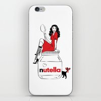 nutella iPhone & iPod Skins featuring Nutella Girl by Martina