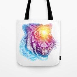 Animal III - Colorful Tiger Tote Bag