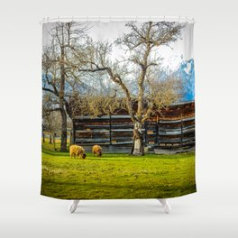 Peaceful Spring Meadow Shower Curtain
