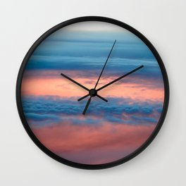 Cyclone in the clouds Wall Clock