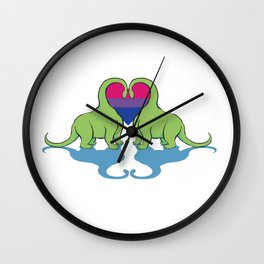 Bi Pride - Dino Love Wall Clock