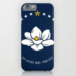 New flag of mississippi iPhone Case