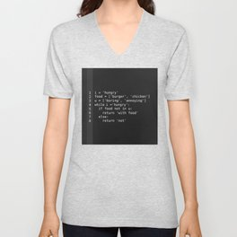 Hungry programmer Unisex V-Neck