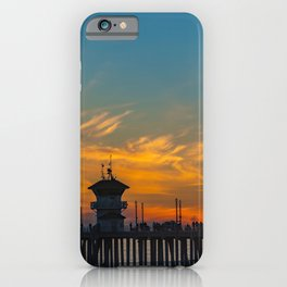 Palm Framed Huntington Beach Pier iPhone Case
