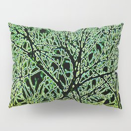 Tangled Tree Branches in Leaf and Lime Green Pillow Sham