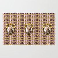 mozart Area & Throw Rugs featuring Mozart Wallpaper by Glenn Designs