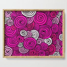 African Style No23, Pink dance Serving Tray