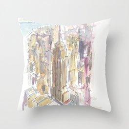 Midtown Manhattan Skyscraper Scene New York City Throw Pillow