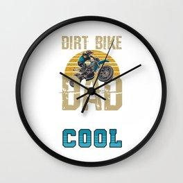 Street Racers FMX Motorcycles Off Road Motorbikes Dirt Bike Dad Gift Wall Clock