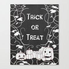 Trick or Treat Pumpkin Patch Canvas Print