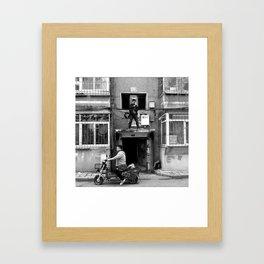 In the hood. Framed Art Print